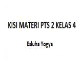 KISI MATERI PTS 2 KELAS 4